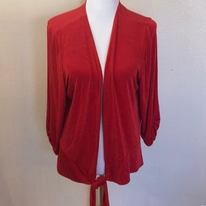 Travellers by Chico's Tie Front Cardigan Sz 3